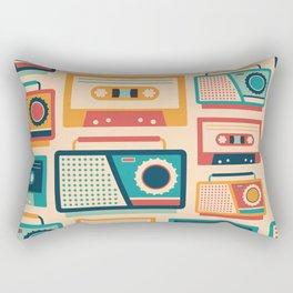 Retro Media Pattern 01 Rectangular Pillow