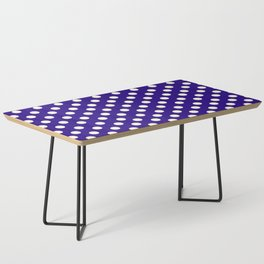 Polka Dot Party in Blue and White Coffee Table