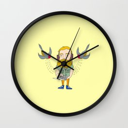 cloud swallows Wall Clock