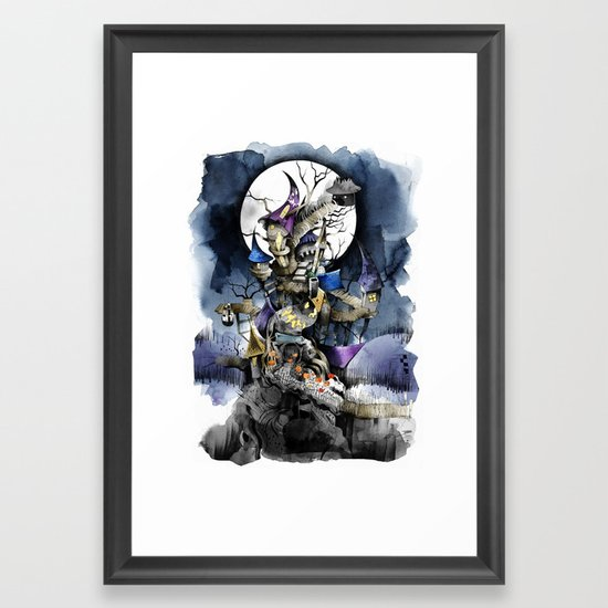 The nightmare before christmas Framed Art Print by sandraink | Society6