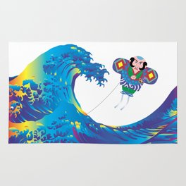 Hokusai Rainbow & Jpanese Yakko kite  Rug