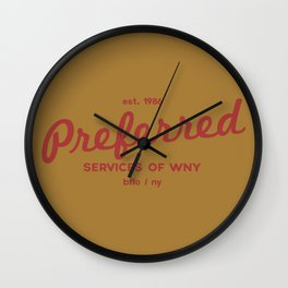 Preferred Services of WNY in Maroon Wall Clock