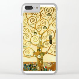 Gustav Klimt The Tree Of Life Clear iPhone Case