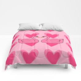 pink swan Comforters