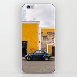 Classic Mexico street scene in a yellow town Izamal iPhone Skin