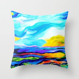 Colorful Journey Throw Pillow