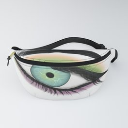 Close Up Of A Green Eye Fanny Pack