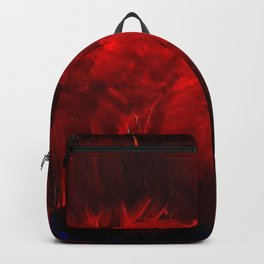 Red And Black Abstract Gothic Glam Chic Backpack