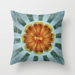 Bacterially Pattern Flower  ID:16165-042044-49241 Throw Pillow
