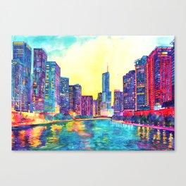 Chicago River Canvas Print