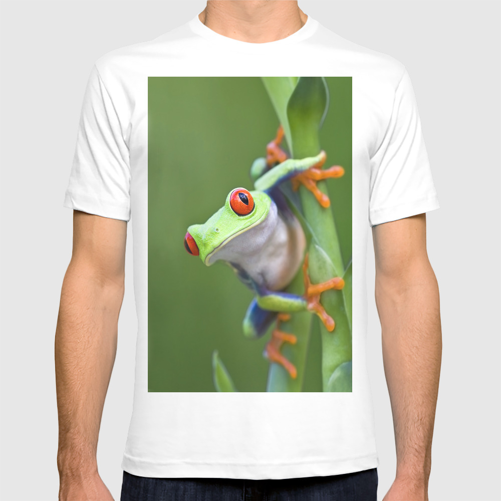 Red-eyed Tree Frog T-shirt by Markkostich TSR975116