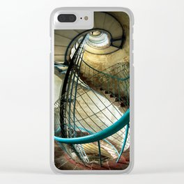 Inside the old lighthouse Clear iPhone Case