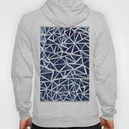 Mozaic Triangle Blue Marble Hoody