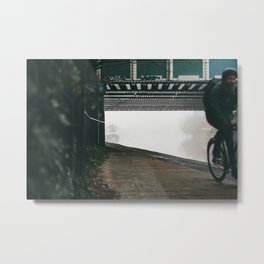 London Fog in Regents Canal II  by Diana Eastman Metal Print