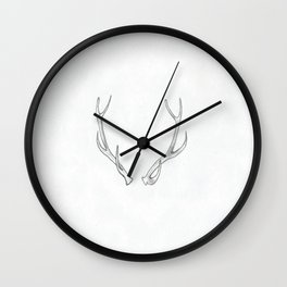 deer antlers Wall Clock