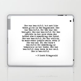 She was beautiful - Fitzgerald quote Laptop & iPad Skin