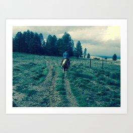 Horse forward Art Print