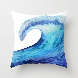 Ocean tsunami wave Throw Pillow