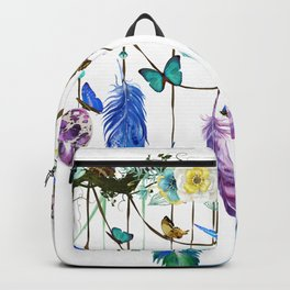 Folkestone Feather, Crystal And Butterfly Spirit Gazer Backpack