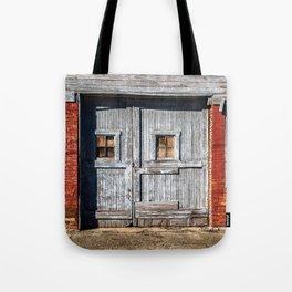 In the Door Series, wooden weather beaten textured doors Tote Bag