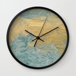 Copper Turquoise #03 Abstract Texture Wall Clock