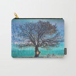 Everlasting Tree, Home Decor, Scenic Wall Art, Printable Artwork, Digital Print, Frozen Lake, Winter Carry-All Pouch