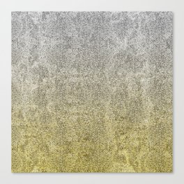 Silver and Gold Glitter Gradient Canvas Print