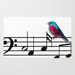 Bird on Music Sheet Rug
