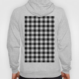 90's Buffalo Check Plaid in Black and White Hoody