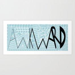 Awkward_Mug Art Print