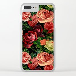 Vintage & Shabby chic - floral roses flowers rose Clear iPhone Case