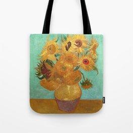 Vincent Van Gogh Twelve Sunflowers In A Vase Tote Bag