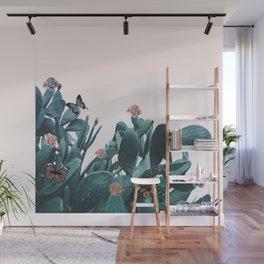 Cactus & Flowers - Follow your butterflies Wall Mural