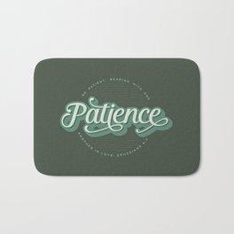 """""""Patience"""" Bible Verse Bath Mat"""