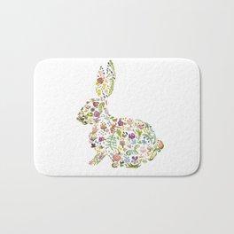 Springtime Flower Bunny Bath Mat