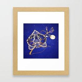 Egyptian Blue :: Orchid Framed Art Print