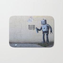 Banksy Robot (Coney Island, NYC) Bath Mat