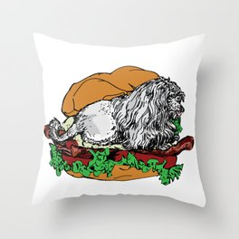 Dogwich Throw Pillow