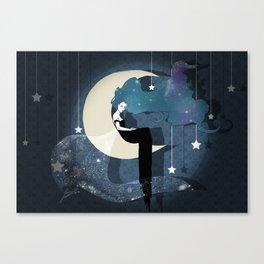 Lady Night 2 Canvas Print