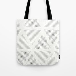 Triangle Hatching Pattern Tote Bag