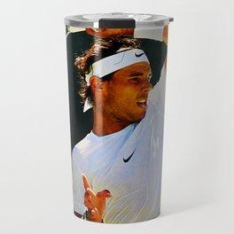 Nadal Tennis Over the Head Forehand Travel Mug