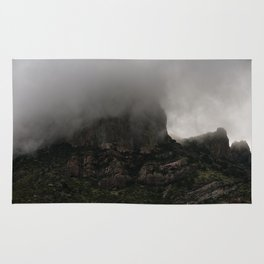 Foggy Chisos Mountaintop, Big Bend - Landscape Photography Rug