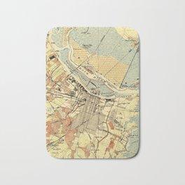Vintage Map of Savannah Georgia (1942) Bath Mat