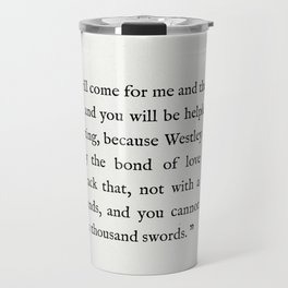 "Book Page - The Princess Bride ""The Bond of Love"" Quote Travel Mug"