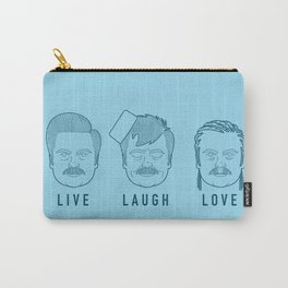 Live Laugh Love, Ron Swanson Carry-All Pouch