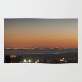 November Sunset over the Severn Rug