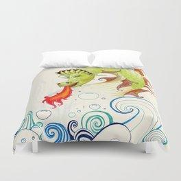 A happy dragon Duvet Cover