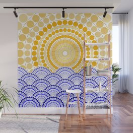 LIGHT OF DAWN (abstract tropical) Wall Mural