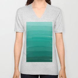 Sea Foam Dream Ombre Unisex V-Neck