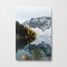 Golden Larches of Blue Lake Metal Print